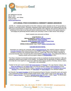 Press Release - 14th Annual Ethics in Business Community Awards_Page_1